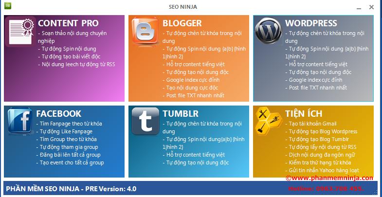1 Phần mềm seo ninja   Phần mềm quảng cáo seo, phần mềm seo