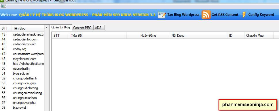 phan mem dang bai len wordpress 2 Phần mềm seo ninja   Phần mềm quảng cáo seo, phần mềm seo