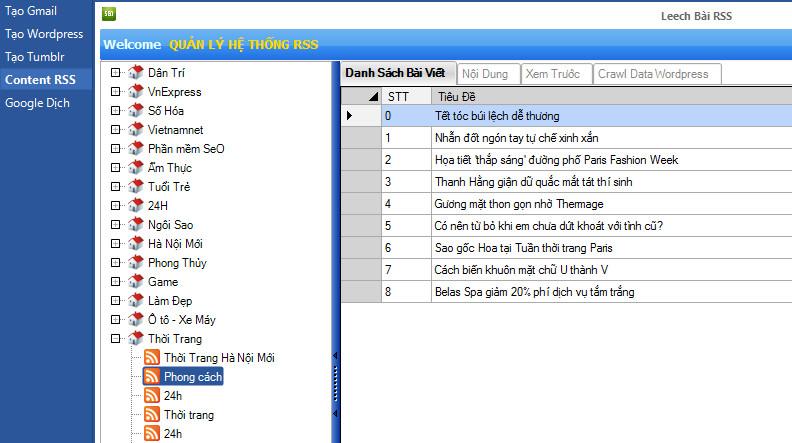 phan mem lay tin tu dong 2 Hướng dẫn sử dụng phần mềm lấy tin tự động RSS   Ninja Seo