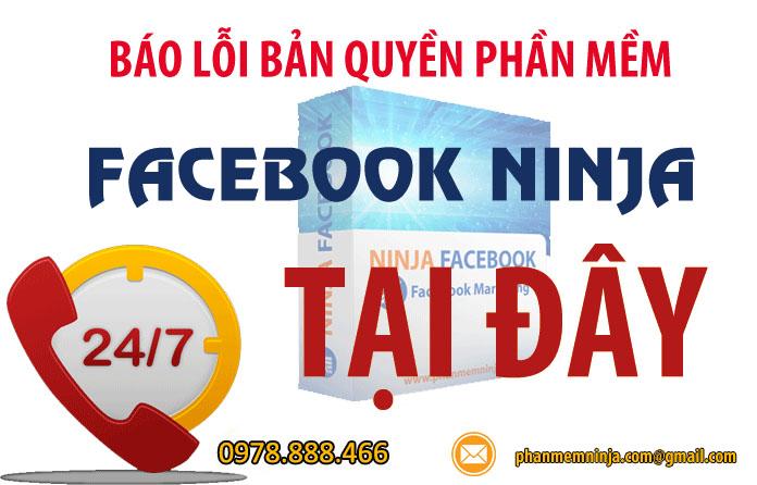 loi ban quyen phanmemninja.com 1 Hướng dẫn cấp lại bản quyền   Key Facebook Ninja