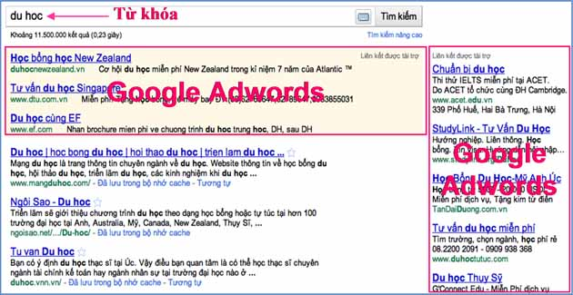 quang cao google adwords 1 DỊCH VỤ QUẢNG CÁO ADWORDS  Facebook Ninja