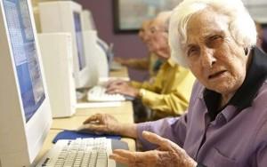 Older Lady Using PC 300x188 Senior woman using computer