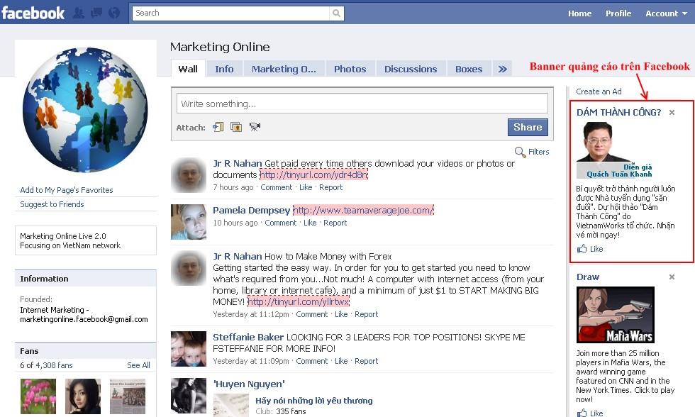 Quang cao tren Facebook Quảng cáo trên Facebook  Facebook Ninja
