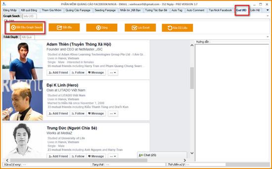 huong dan quet uid facebook bang graph seach 1 1 Hướng dẫn quét UID Facebook bằng Graph Seach