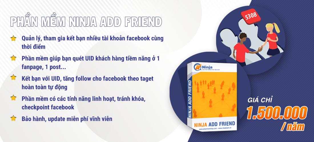 addfriend Ninja Add Friend – Phần mềm kết bạn facebook hàng loạt 5000 bạn bè