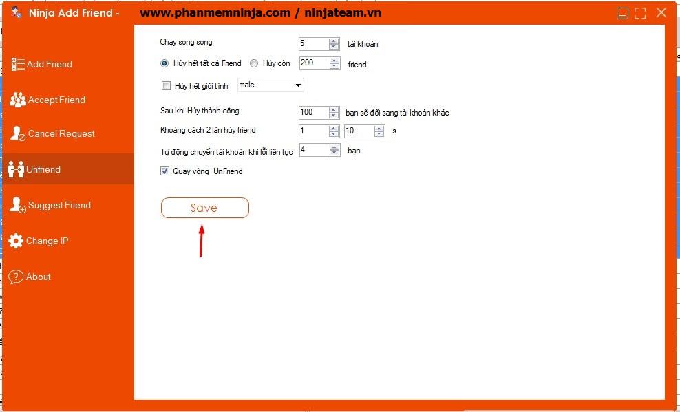 huy ket b%E1%BA%A1n cai dat Hướng dẫn sử dụng phần mềm Ninja Add Friend