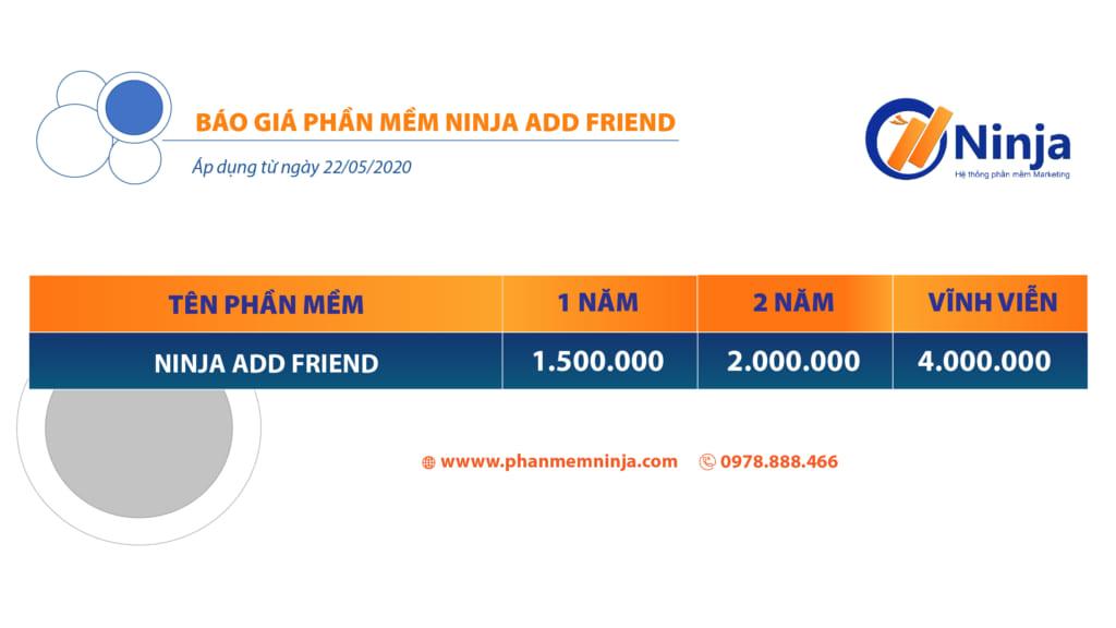 ninja add friend 1024x576 Ninja Add Friend – Phần mềm tự động kết bạn 5000 bạn bè