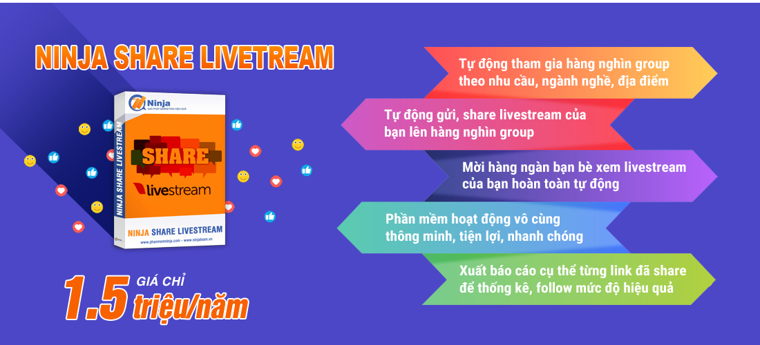 sharelivetream 1 Phần Mềm Share Livestream Lên Group, tăng View LiveStream