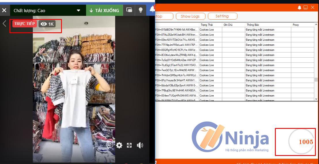 tang mat Phần mềm chia sẻ Livestream Lên Group, tăng mắt Livestream