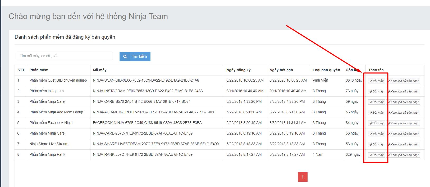 doi may Hướng dẫn đổi bản quyền, thay pass, quên pass tài khoản Phần mềm Ninja
