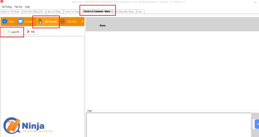 quan ly inbox comment bang ninja care 2 1024x542 Quản lý inbox, comment facebook bằng Phần mềm Ninja care
