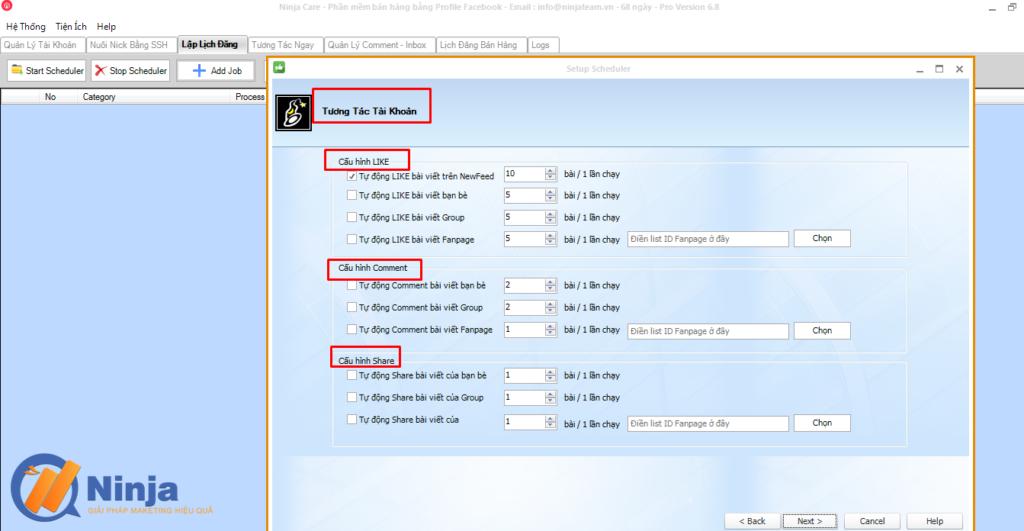 tu dong lap lich dang bai dang ninja care 3 1024x531 Tự động lập lịch đăng bài Facebook bằng phần mềm Ninja Care