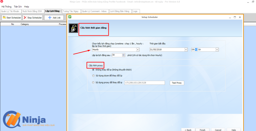 tu dong lap lich dang bai dang ninja care 5 1024x525 Tự động lập lịch đăng bài Facebook bằng phần mềm Ninja Care