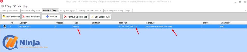 tu dong lap lich dang bai dang ninja care 6 1024x218 Tự động lập lịch đăng bài Facebook bằng phần mềm Ninja Care