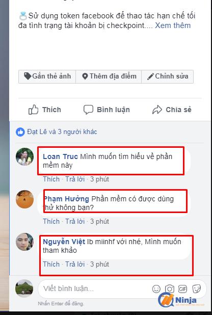 tuong tac tai khoan facebook nhu nguoi that 4 Tự động tương tác tài khoản Facebook như người thật bằng Ninja Care