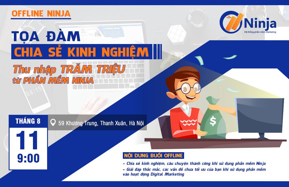 baner chot Thông báo Offline chia sẻ cách sử dụng phần mềm Ninja