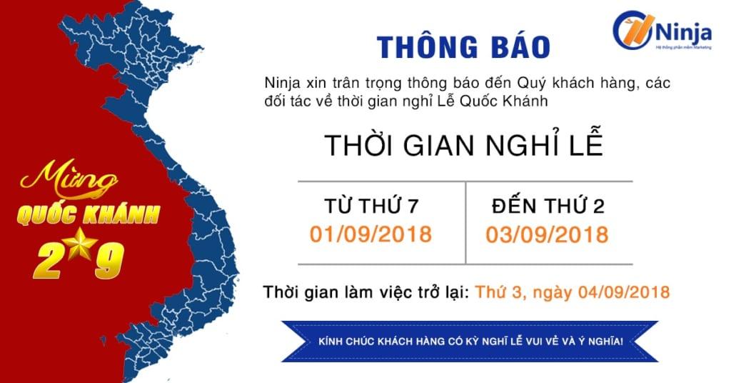 banner 2.9 1024x536 Ninja thông báo lịch nghỉ Lễ Quốc Khánh 2/9/2018