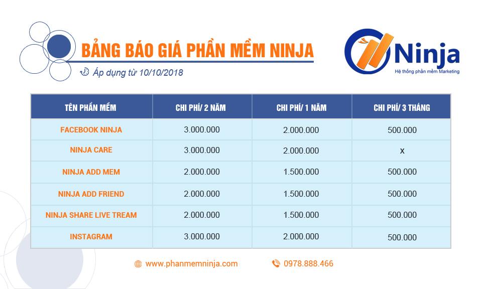 baogia960x576 Thông báo bảng giá các dịch vụ phần mềm Ninja mới nhất