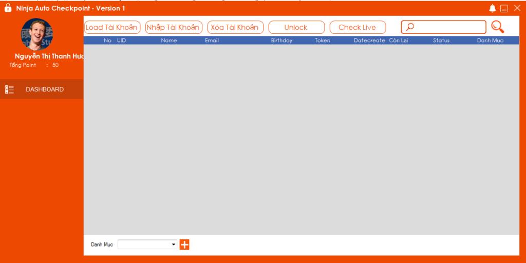giaodienchinh1 1024x512 Hướng dẫn sử dụng Ninja Auto Checkpoint   mở khóa checkpoint facebook hàng loạt