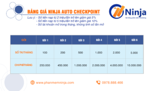 imagefdgdg 300x180 Bảng giá phần mềm Ninja Auto Checkpoint