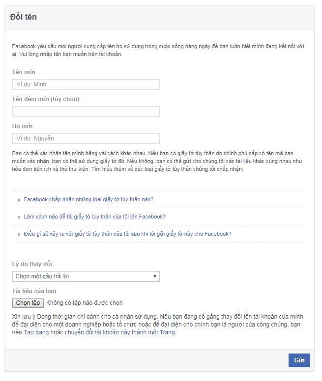 doitenfacebook1 Đổi tên Facebook cá nhân không cần chờ 60 ngày hoặc đổi quá 5 lần