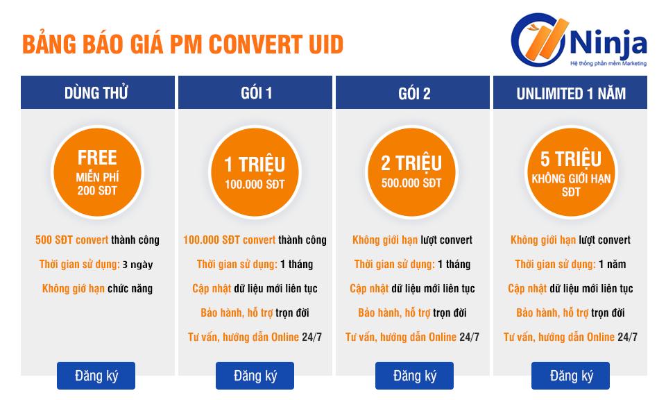 ảnh báo giá uidpro Convert UID facebook sang số điện thoại nhanh thần tốc