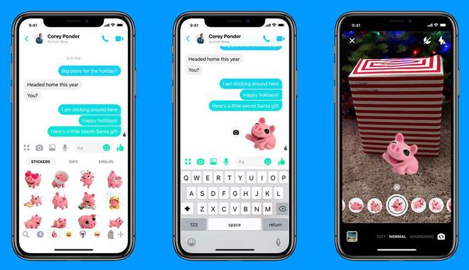 facebookmessger Facebook Messenger bổ sung chế độ chụp ảnh chân dung không cần camera kép và nhãn dán AR