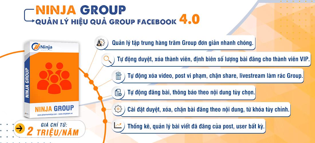 20200326 2. Ninja Group Ninja Group   Phần mềm quản lý, chăm sóc group Facebook