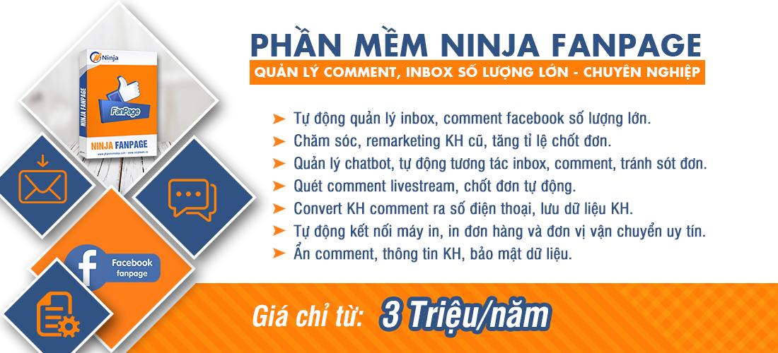 20200326 ninja fanpage 1 Ninja Fanpage   Phần mềm quản lý comment inbox facebook số lượng lớn