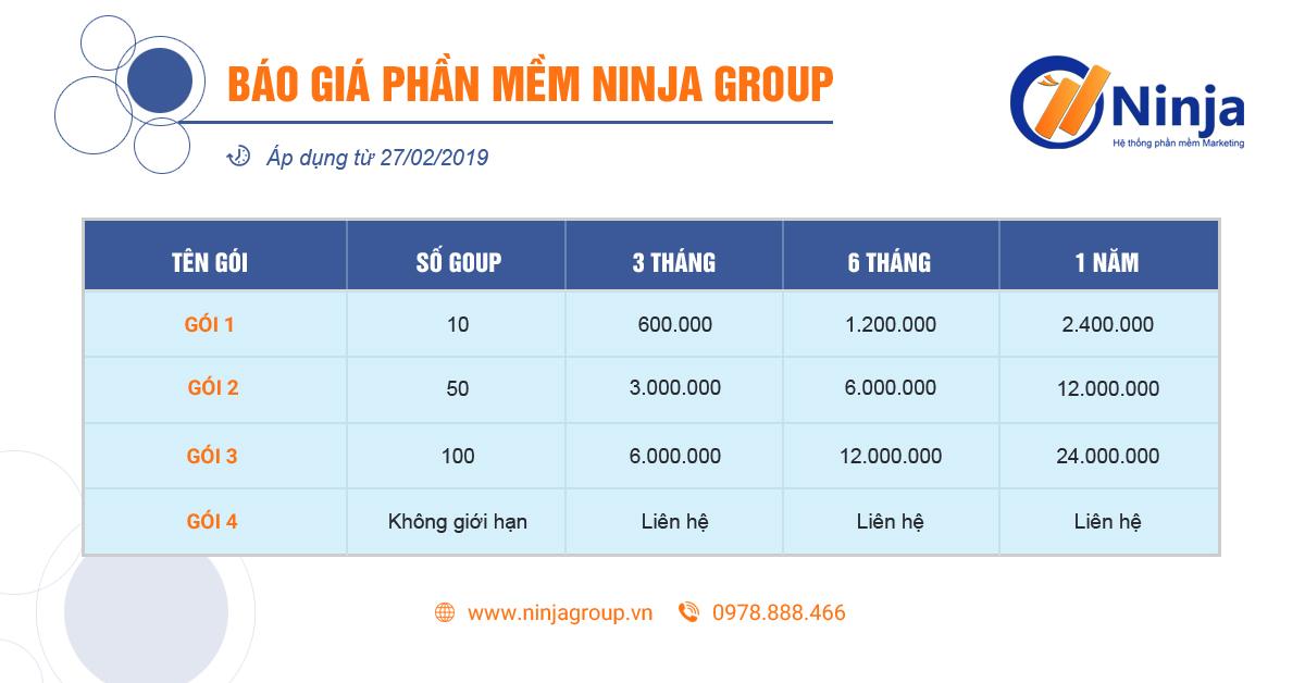 baogiagroup2 Hướng dẫn sử dụng Ninja Group Quản lý chăm sóc group facebook