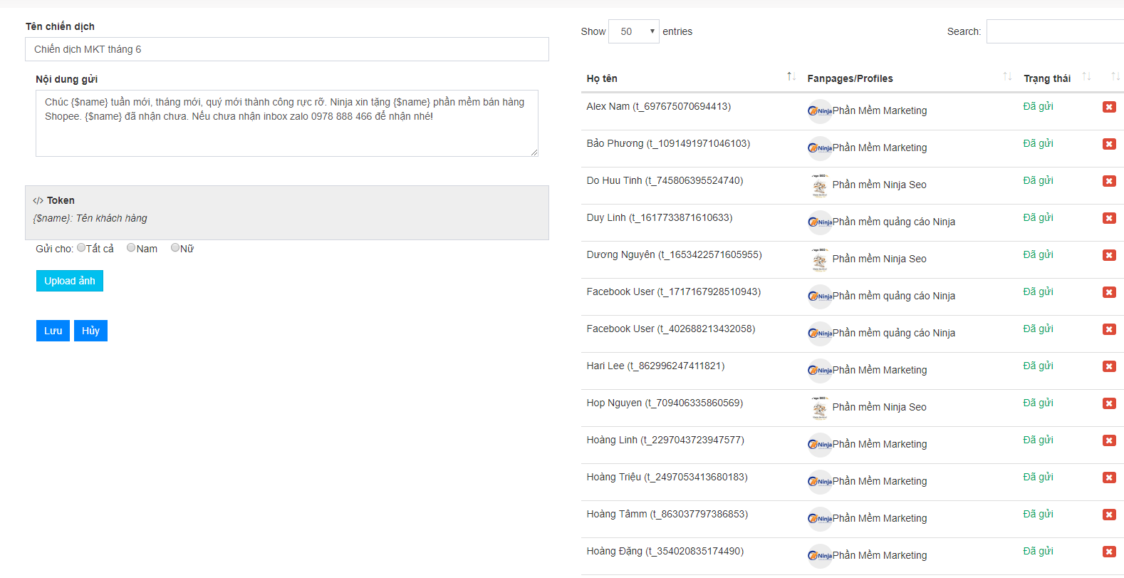 Ninja Fanpage – Phần mềm quản lý comment inbox facebook số lượng lớn - 273378