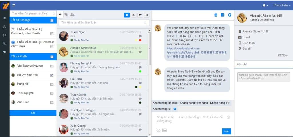 ninja fanpage 2 1024x479 Phần mềm Ninja Fanpage quản lý comment inbox facebook số lượng lớn