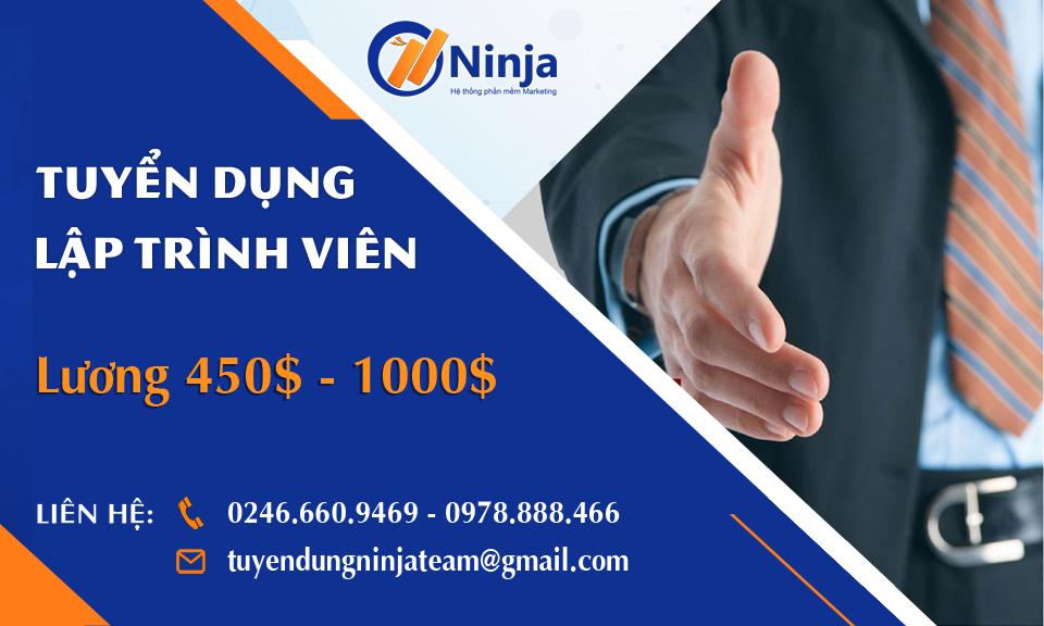 tuyendung960 Ninja tuyển dụng nhân viên lập trình PHP