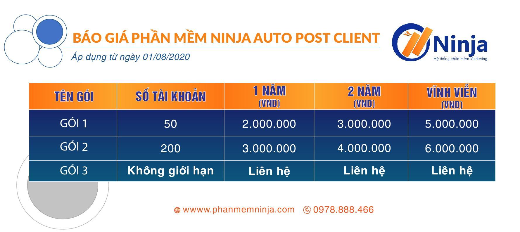 BAN BAO GIA Ninja Auto Post client   Siêu phẩm đăng bài quảng cáo facebook hàng loạt