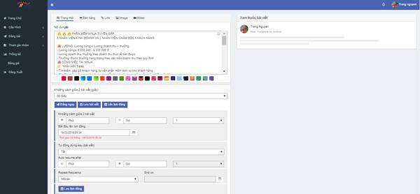 auto post 3 Ninja Auto Post – Phần mềm đăng tin, up bài bán hàng Facebook