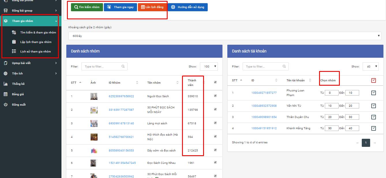 chọn tham gia nhom Phần mềm Ninja Auto Post   Phần mềm đăng tin quảng cáo, bán hàng Facebook