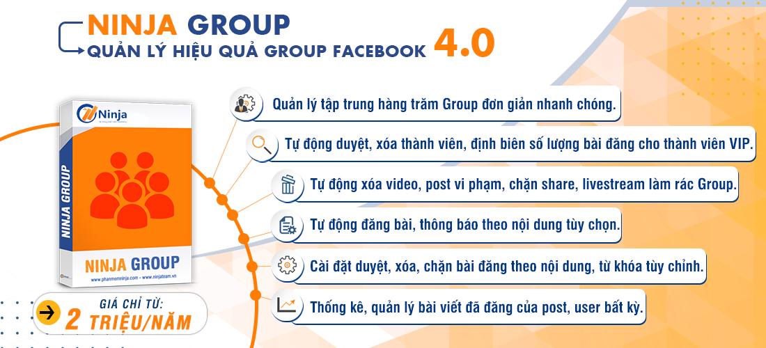 20200326 2. Ninja Group 1 7 Cách Tự Chạy Quảng Cáo Facebook Tiếp Cận 1.000.000 Khách miễn phí 0Đ
