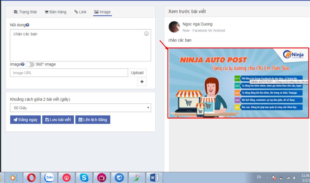 Auto Post hướng dẫn cài đặt và đăng bài 12 1024x606 Hướng dẫn sử dụng phần mềm Ninja Auto Post
