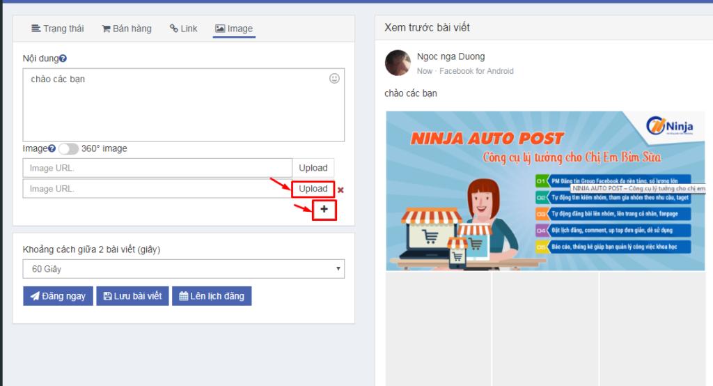 Auto Post hướng dẫn cài đặt và đăng bài 13 1024x554 Hướng dẫn sử dụng phần mềm Ninja Auto Post