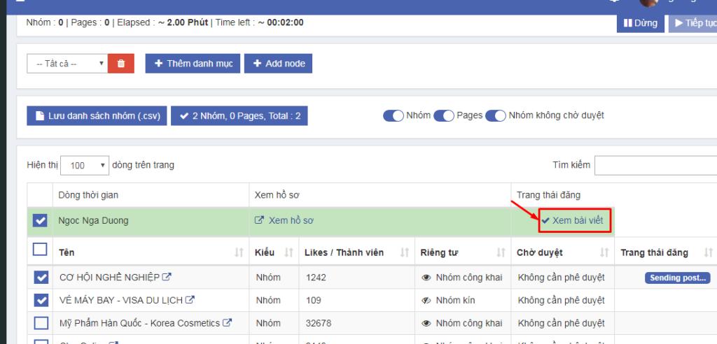 Auto Post hướng dẫn cài đặt và đăng bài 8 1024x492 Hướng dẫn sử dụng phần mềm Ninja Auto Post