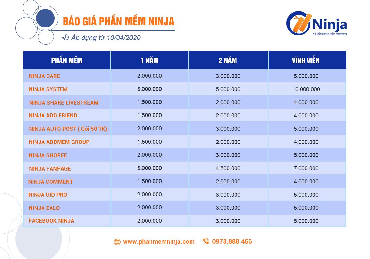 BAOGIATONGHOP 3 Facebook Ninja   Phần mềm quảng cáo, đăng tin bán hàng trên Facebook