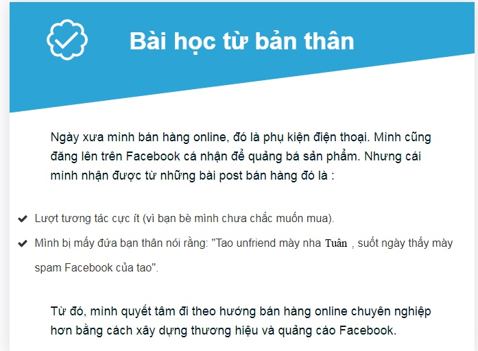 BH OL 3 Bước bán hàng trên Facebook hiệu quả cho người mới