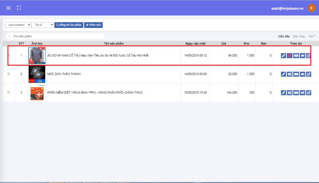 Dăng bai len nhieu shop qua link bang phan mem ninja shopee 3 1024x589 Hướng dẫn đăng sản phẩm lên nhiều shop qua link bằng Phần mềm Ninja Shopee