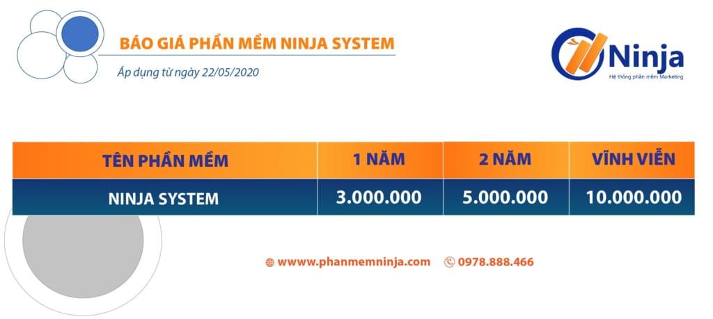 báo giá phần mềm ninja system 09 1024x459 Phần mềm Ninja System   Phần mềm nuôi nick facebook trên giả lập