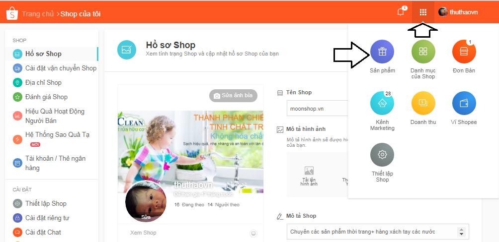 banhangshopee10 Cập nhật cách bán hàng trên Shopee đầy đủ, mới nhất 2019