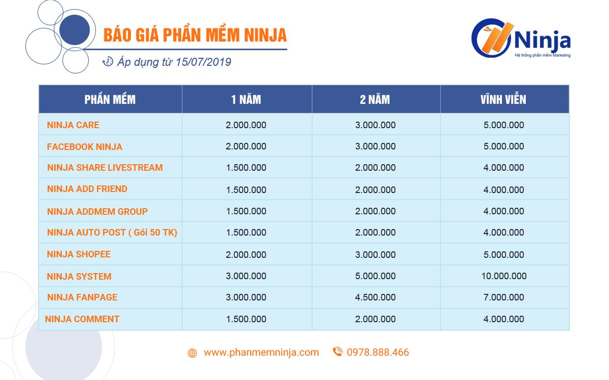 bao gia phan mem ninja Facebook Ninja   Phần mềm quảng cáo, đăng tin bán hàng trên Facebook