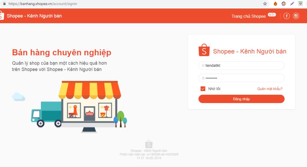 dang nhap tai khoan shopee vao pm ninjashopee 1 1024x557 Hướng dẫn nhập tài khoản Shopee vào phần mềm Ninja Shopee