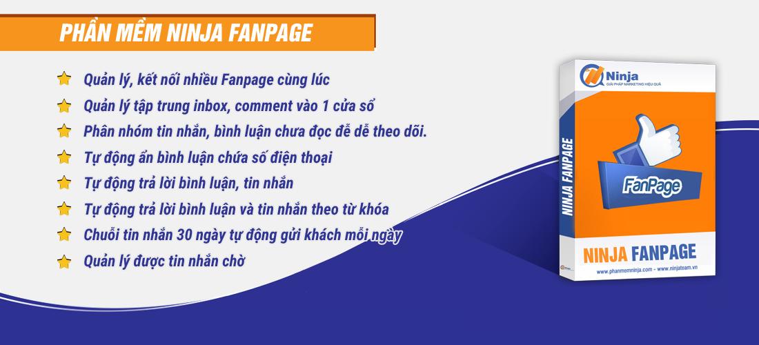 ninjafanpage Phần mềm Ninja Fanpage quản lý comment inbox facebook số lượng lớn