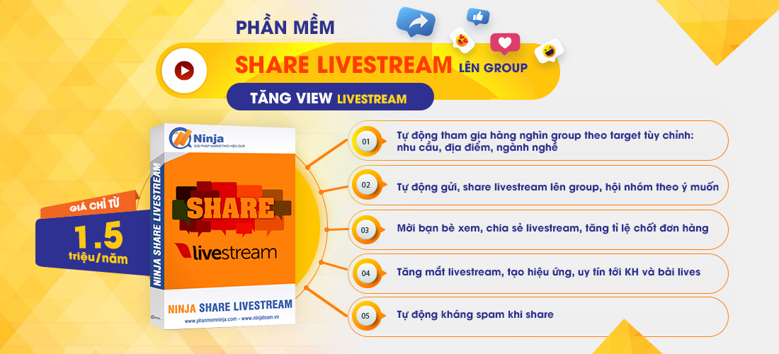 share livestream 7 Cách Tự Chạy Quảng Cáo Facebook Tiếp Cận 1.000.000 Khách miễn phí 0Đ
