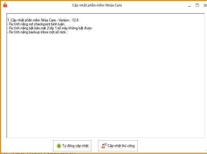update ninjacare 12.8 Update Ninja Care version 12.8 mở checkpoint bình luận
